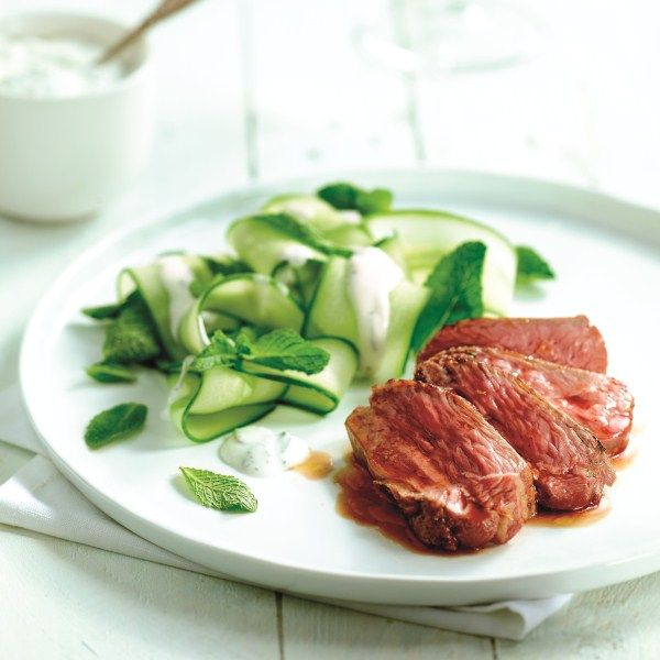 Lamssteak met tzatziki salade #PowerStart #WeightWatchers #WWrecept