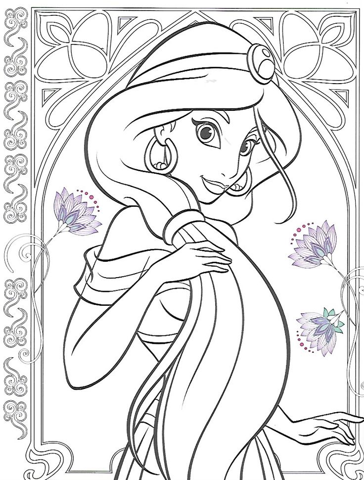coloring pages jasmine christmas - photo#23