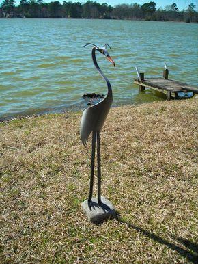 Garza Azul majestuoso pájaro PVC