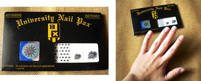 University #Nail Pax packaging #college #nails #nailart #backtoschool #Army #review @University Nail Pax www.thestyleref.com
