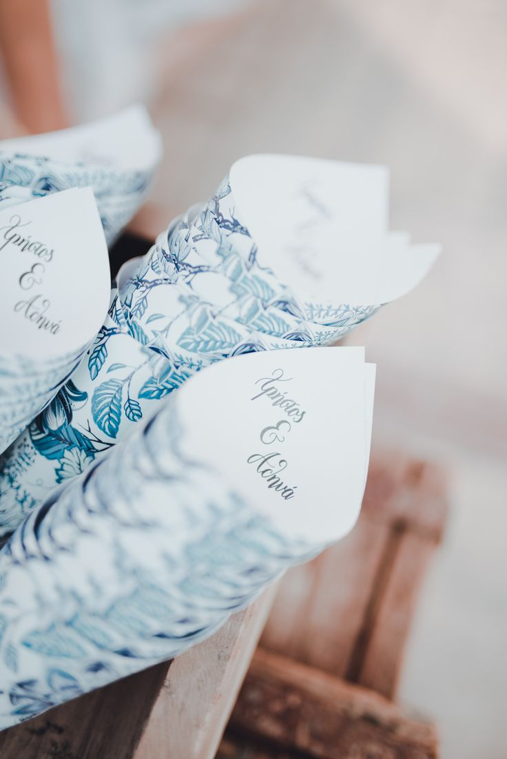 wedding papper cornets with print