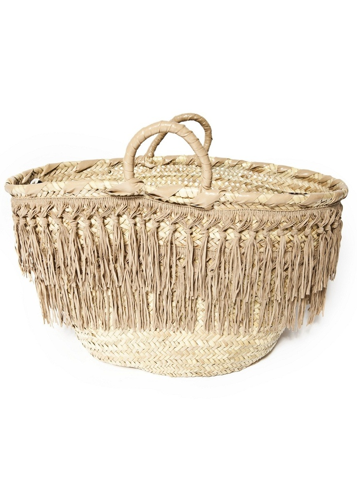 Capogiro Firenze-fringe straw bag