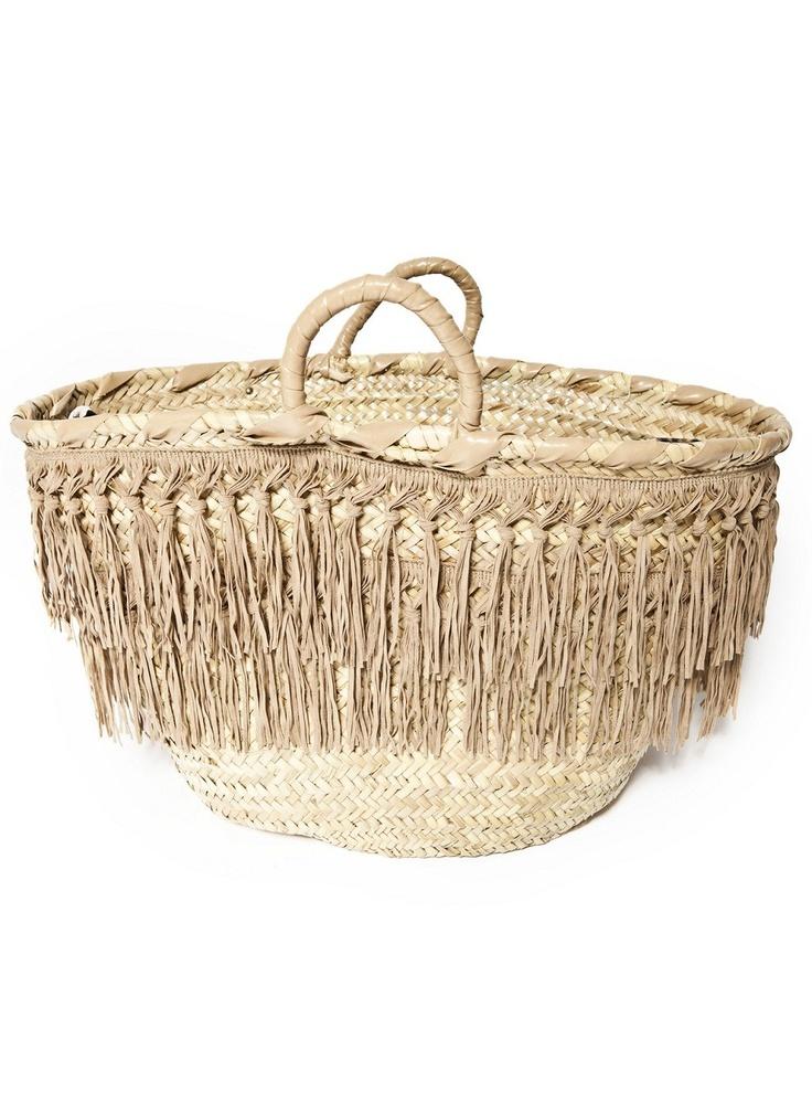 Capogiro Firenze-fringe straw bag