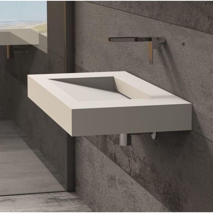 Solidsquare Rectangular Wall Mount Bathroom Sink Bathroom