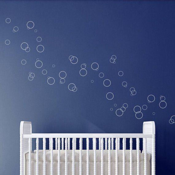 Vinyl Dot Circle Wall Decals Bubble Decals Fish Bubbles Bathroom
