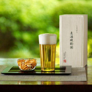 [松徳硝子/うすはり タンブラー&柿ピー小鉢セット] 「今年もお仕事お疲れ様」と一言添えたくなるようなプレゼントです。両親やお酒好きの夫にあげるのに最適です♪