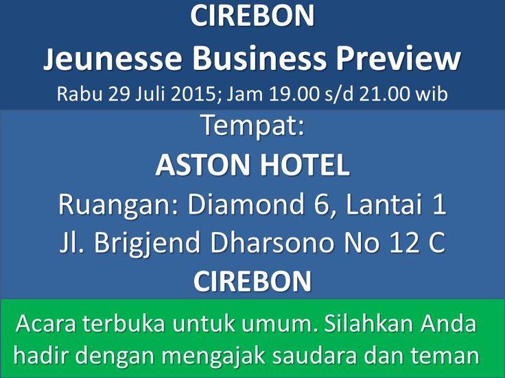 Hadiri  Preview Peluang bisnis di Kota Anda. Pengantar install aplikasi free Android http://bit.ly/HIdupMantap dengan username vituspolikarpus