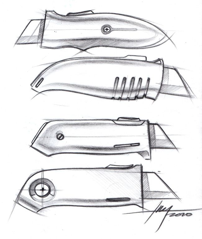 knife drawing designs - 650×769
