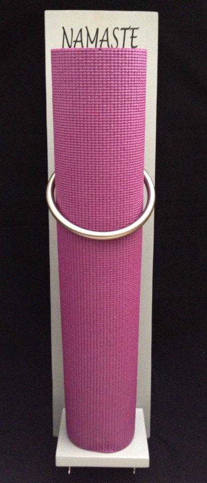 Yoga Mat Holder for your home or Studio order now, pick your color. The one posted is ready to ship.