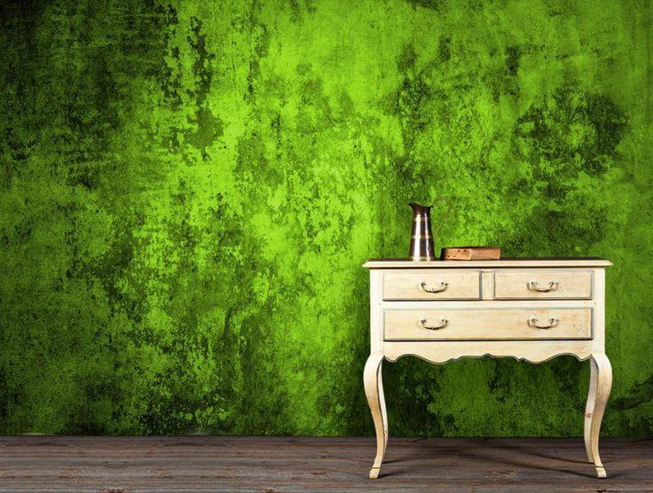 Grön grunge tapet | fototapet | Abstrakt | Textur | Happywall