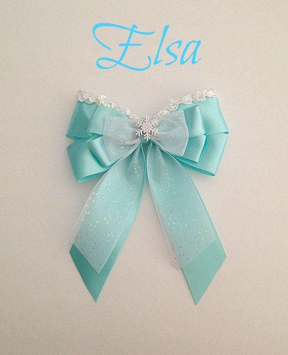 Disney inspired Frozen Elsa princess hair bow