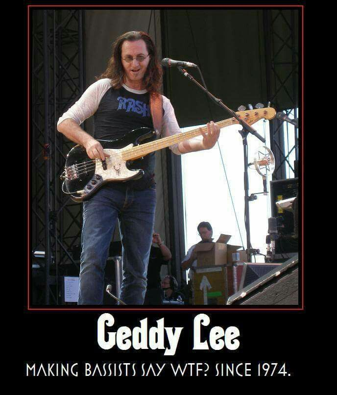 Geddy Lee. RUSH Best. Bassist. Ever.