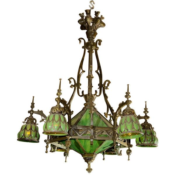 Woodchuck Antiques - Gothic Chandelier - 1stdibs found on Polyvore