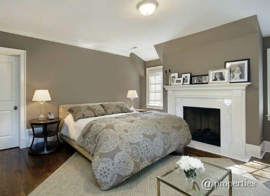 Brownish Grey and White Bedroom - Colors Tyler actually likes!