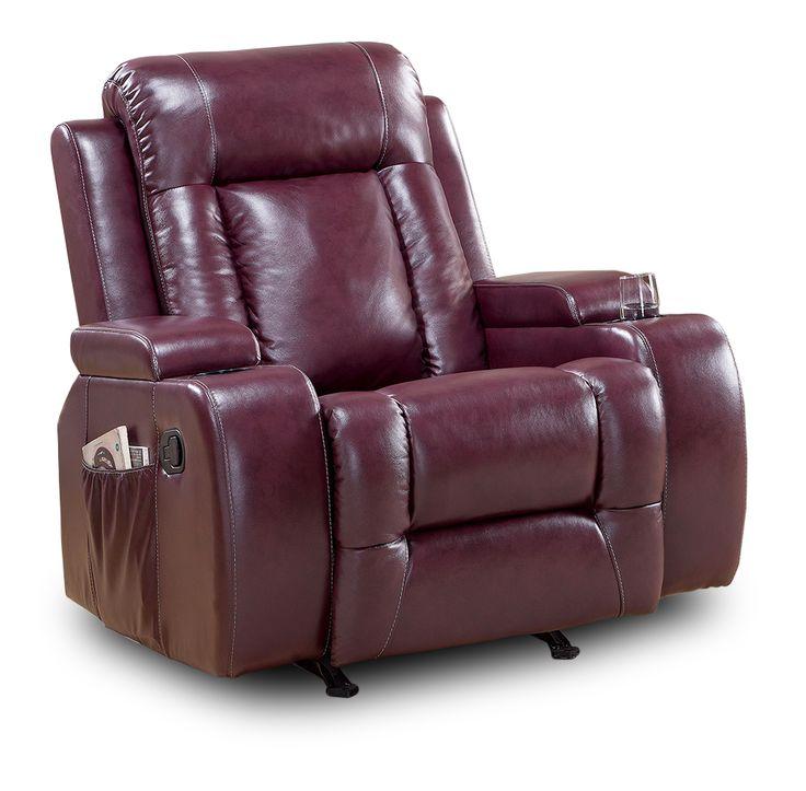 Sillon reclinable burgundy con mecedora mod luke for Divanlito sofa cama