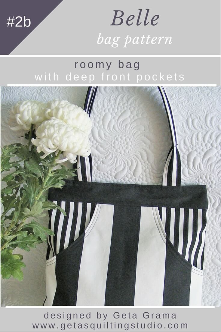 Bag pattern for a spacious bag with