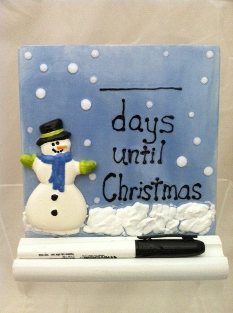 Ceramic Tile Dry Erase Countown to Christmas by ShadyLaneCeramics, $17.00