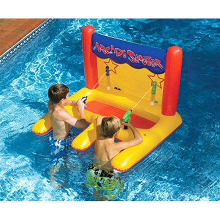 Arcade Shooter Inflatable Pool Toy, Multicolor