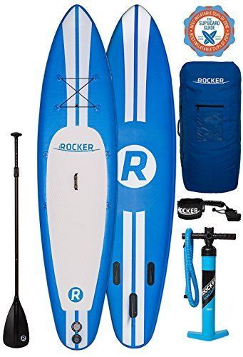 """iRocker Paddle Boards Inflatable 10' 6"""" Thick SUP Package Blue Leash Water Sport #iROCKER"""