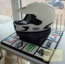 motorcross helmet cake - Google Search