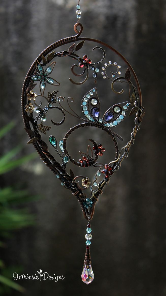 Butterfly Gemstone Suncatcher