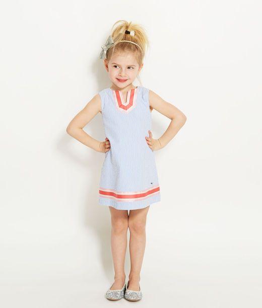 Girls Seersucker Tunic Dress