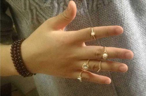 Zestaw pięciu pierścionków Silvona