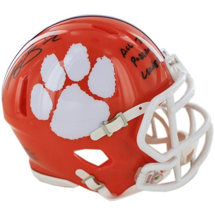 Tajh Boyd Signed Clemson Mini Helmet w All Time Passing Leader insc (Fanatics Authentic)