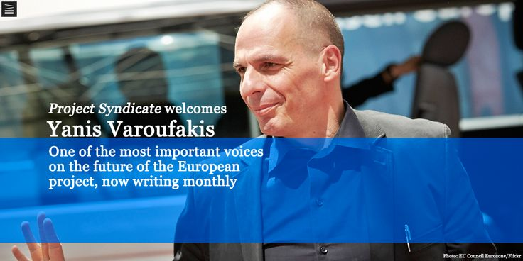 Big news! We're launching a new monthly column series by @yanisvaroufakis. Read his latest http://bit.ly/1SxgcRO