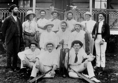 Cricket club at Boonah, Queensland, 1901  lilly