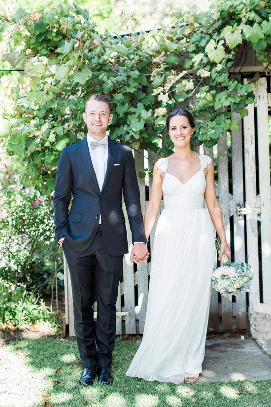 Liz And John S Stylish Outdoor Wedding