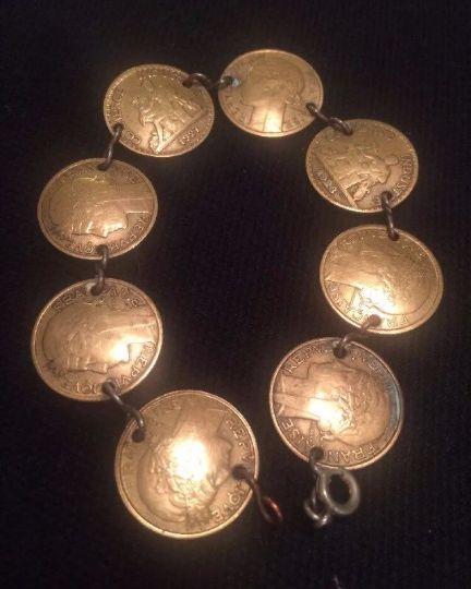 Vintage 1920 30 039 s French Franc Centime RARE 8 French Foreign Coins Bracelet | eBay