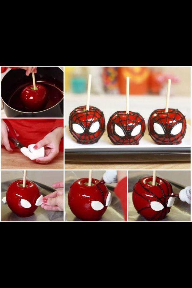 Pomme d'amour Spiderman