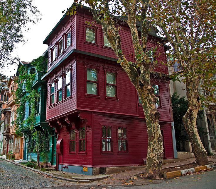Kuzguncuk houses in Istanbul.