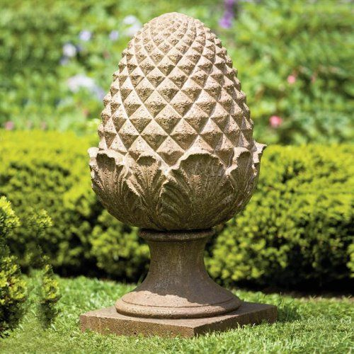 Williamsburg Grand Pinecone Cast Stone Statue Made By Campania International
