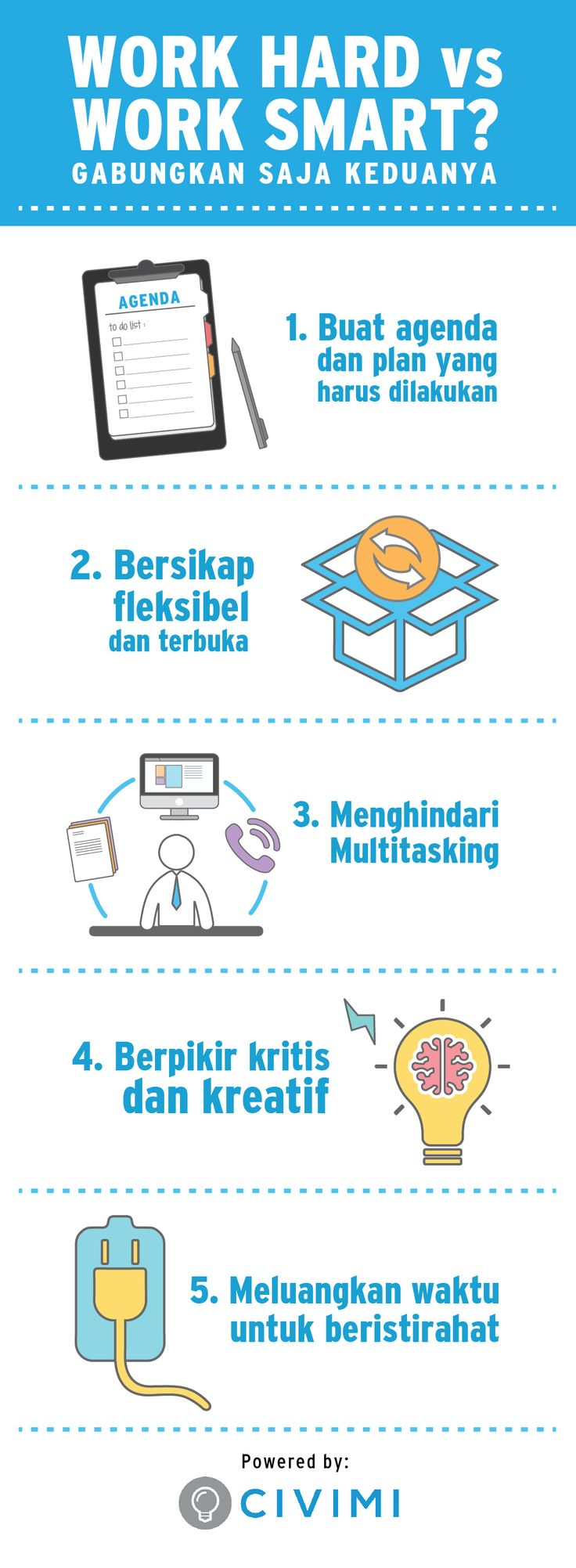 SMART WORK HARD Tips! You must to prepare it all (Infographic)