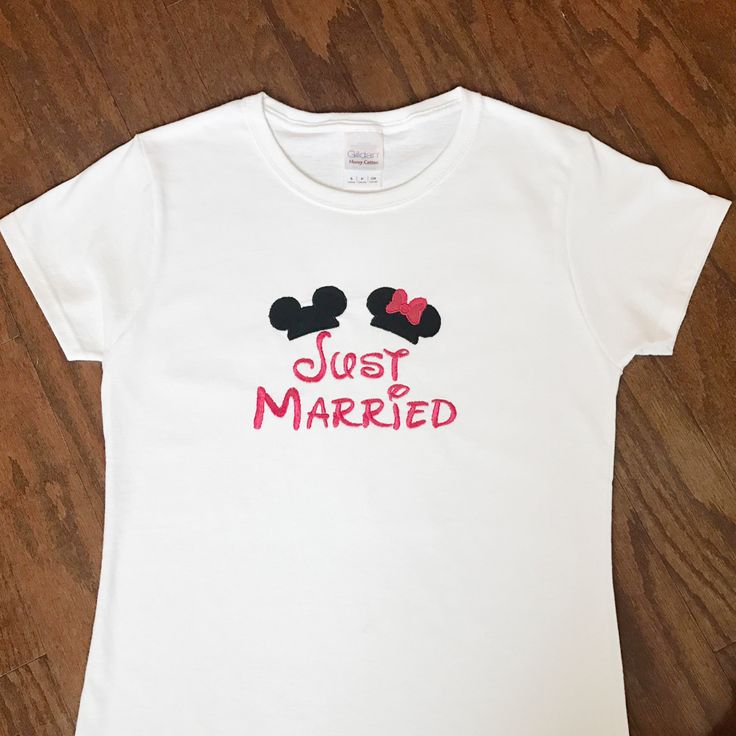 Just Married Disney Shirts