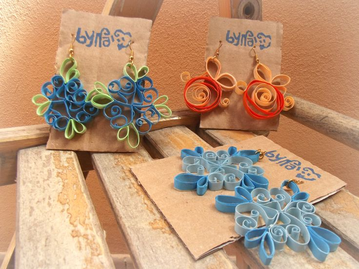 Paper Quilled Earrings #Bynadia #Etsyshop @etsy @etsyitaliateam   https://www.etsy.com/it/shop/Bynadialab?section_id=15320199&ref=shopsection_leftnav_1