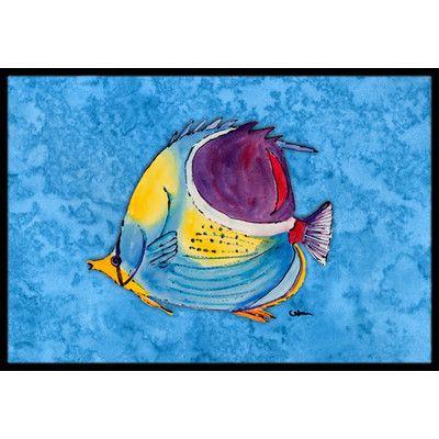 "Caroline's Treasures Fish Tropical Doormat Rug Size: 1'6"" x 2' 3"""