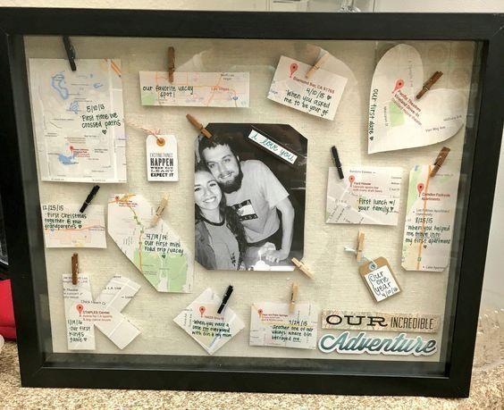 Shadow Box Memories | Christmas Gifts for Boyfriend DIY Cute #boyfriendbirthdaygifts #boyfriendgiftsideas #giftsforhim