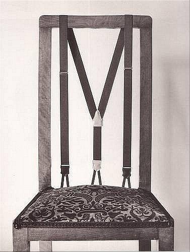 A Suspender Chair - love it!
