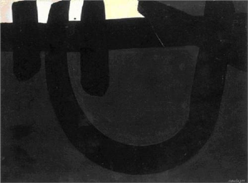 Peinture 8 août 1974 - Pierre Soulages