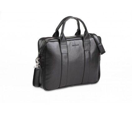Czarna torba na laptopa z paskiem na ramię
