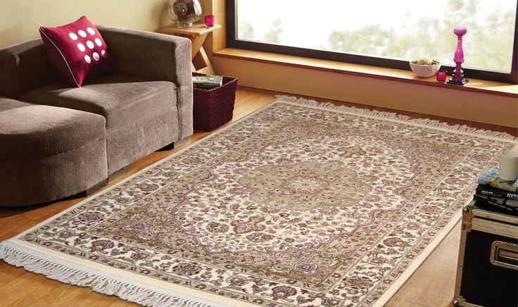 tappeto keshan avorio disegno persiano