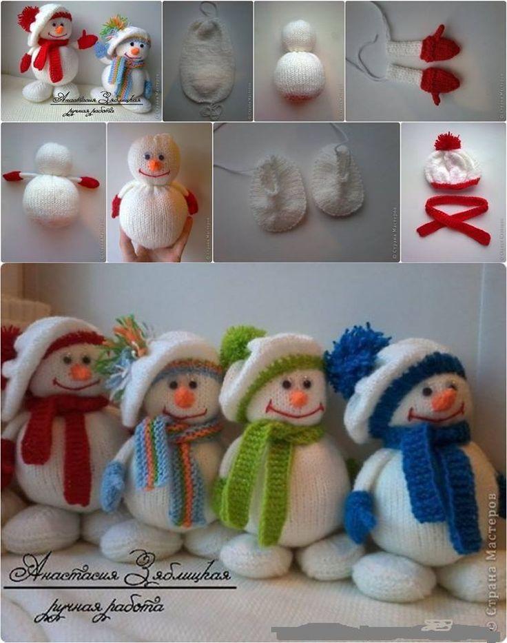 Pupazzo di neve con calza