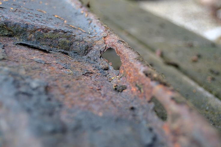 Havetraktor klippebord og rust