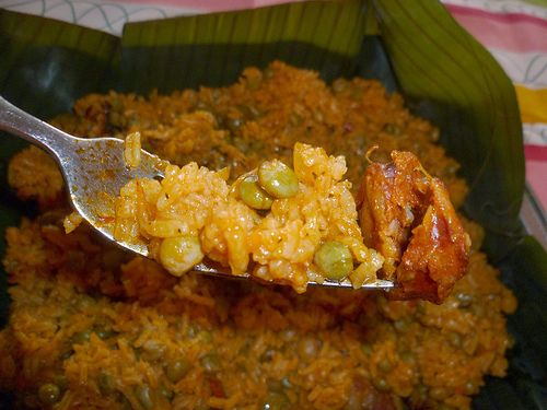 Arroz con Gandulesis the traditional dish of Puerto Rico. It is usually served along with our roast pork, Pernil. Youwill find this dish being servedduring the holidays and when having a party...