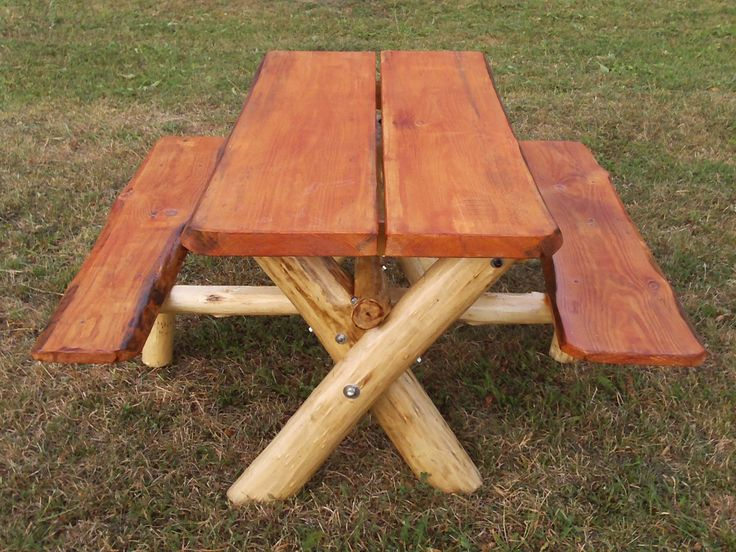 17 best images about picnic tables on pinterest picnic for Rustic picnic table plans