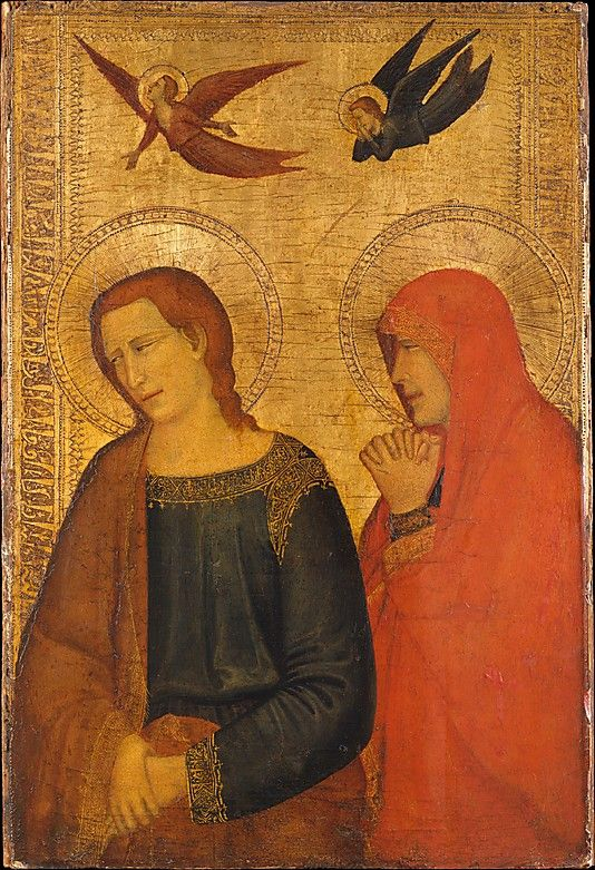 Roberto d'Oderisio ~ St. John the Evangelist and Mary Magdalene, c. late 1300s