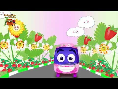 Strawberry Wheels On The Bus Rhyme   Fruits Bus Song   Nursery Rhymes   Superhero Wheels On The Bus - YouTube